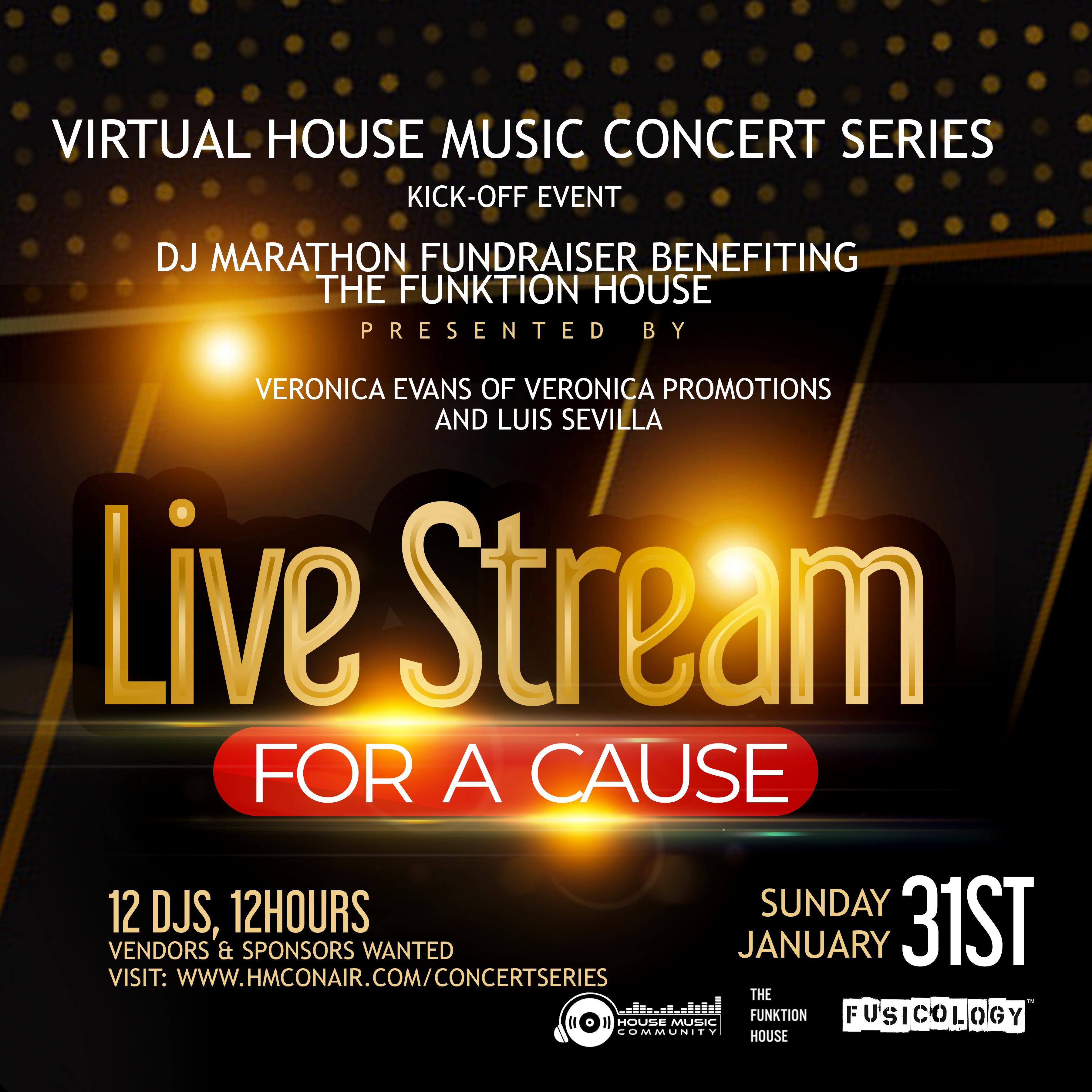 Kick-Off fundraiser DJ Marathon Party!